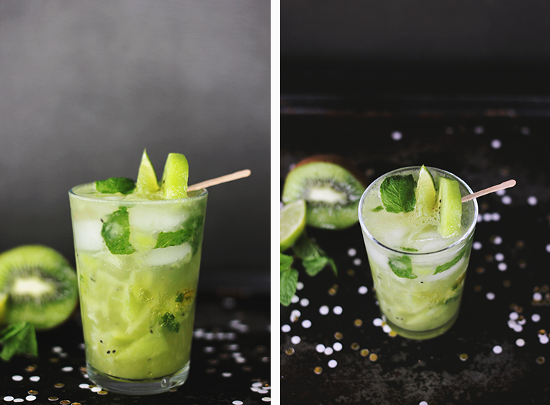 Kiwi Lime Mojito Mocktail | The Merrythought