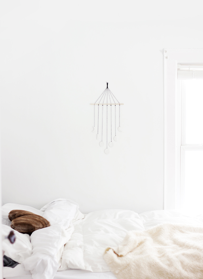 DIY Moon Phase Wall Mobile @themerrythought
