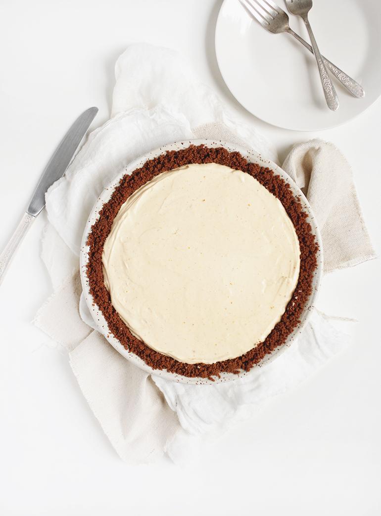 No-Bake Pumpkin Cheesecake Pie @themerrythought