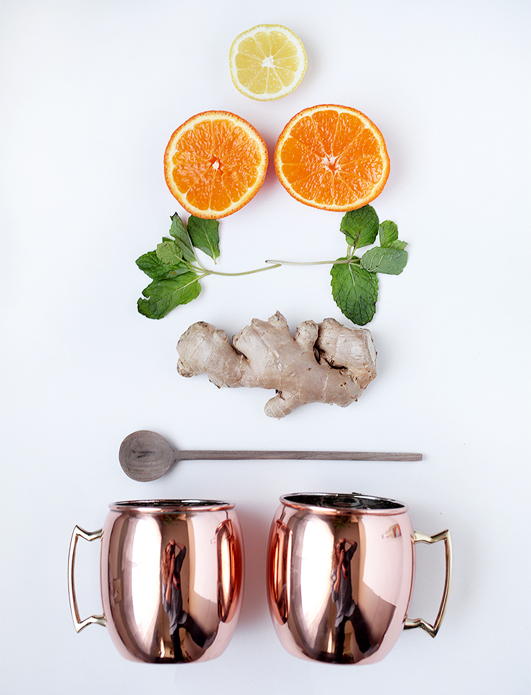 Orange Moscow Mule Mocktail @themerrythought @hayneedle