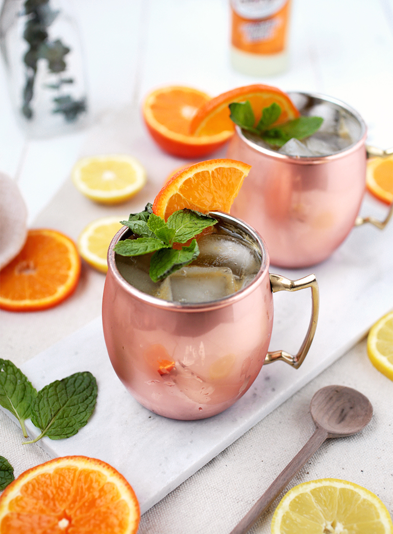 Orange Moscow Mule Mocktail @themerrythought