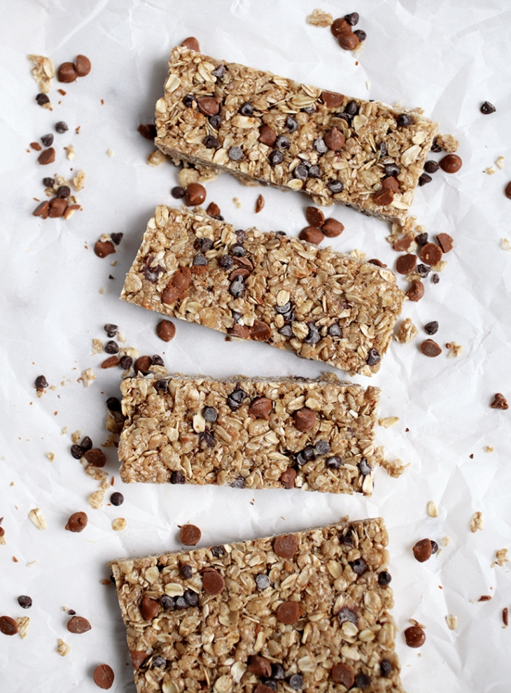 Homemade Cinnamon Peanut Butter Granola Bars @themerrythought