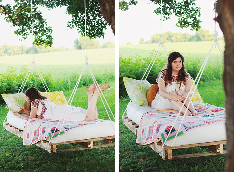 Pallet Bed | @themerrythought