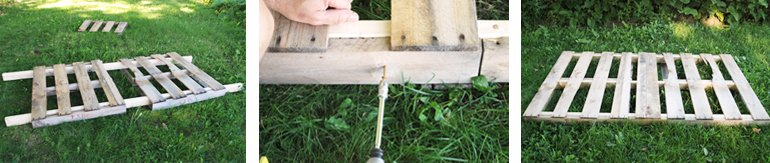 Pallet Swing DIY | @themerrythought