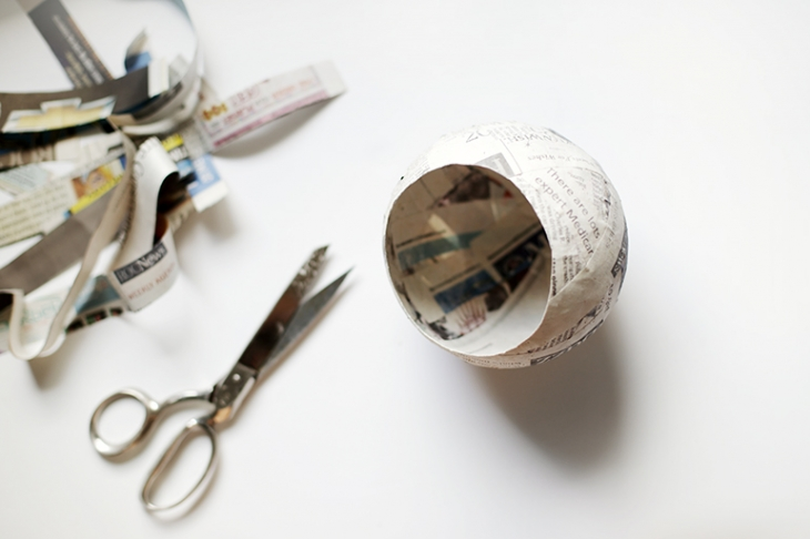 DIY Paper Mache Pod @themerrythought
