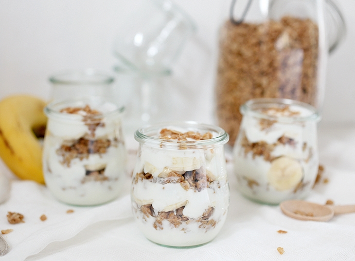 Peanut Butter Banana Parfait @themerrythought