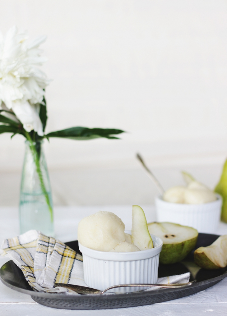 Riesling Pear Sorbet @themerrythought