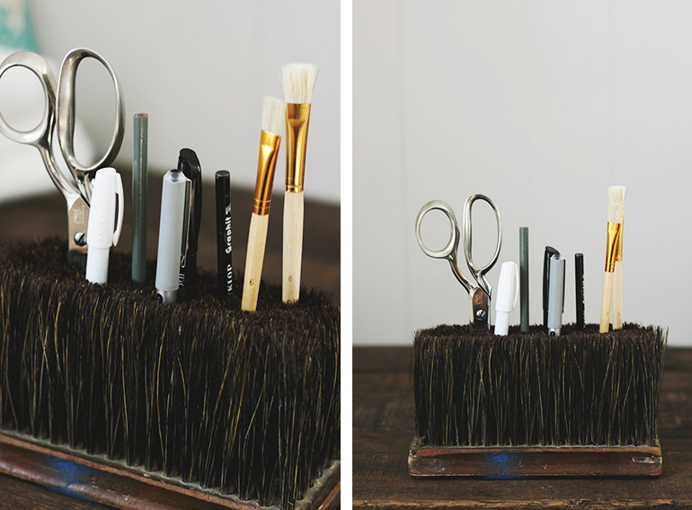 Diy broom head desk caddy the merrythought Diy pencil holder for desk