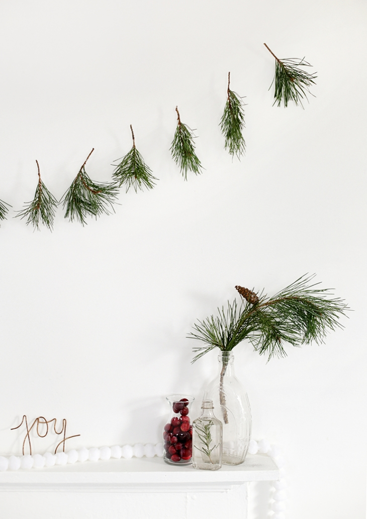 DIY Pine Sprig Garland @themerrythought