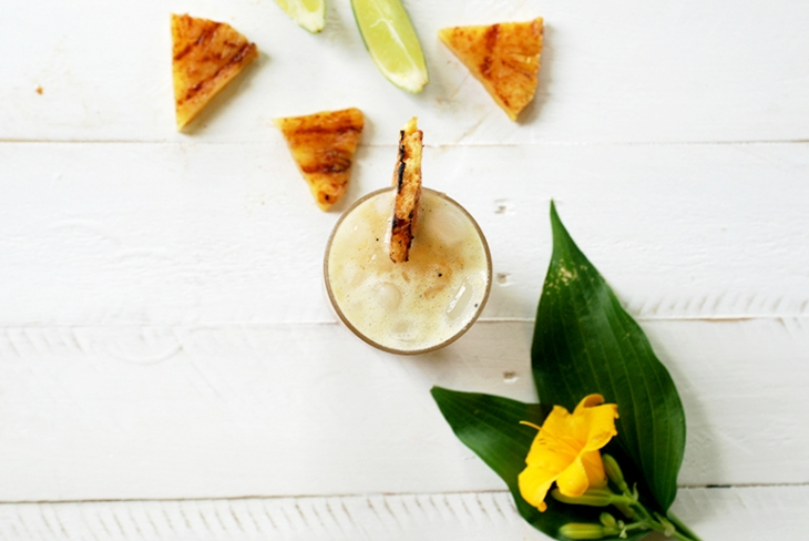 Grilled Pineapple Lime Mocktail @themerrythought