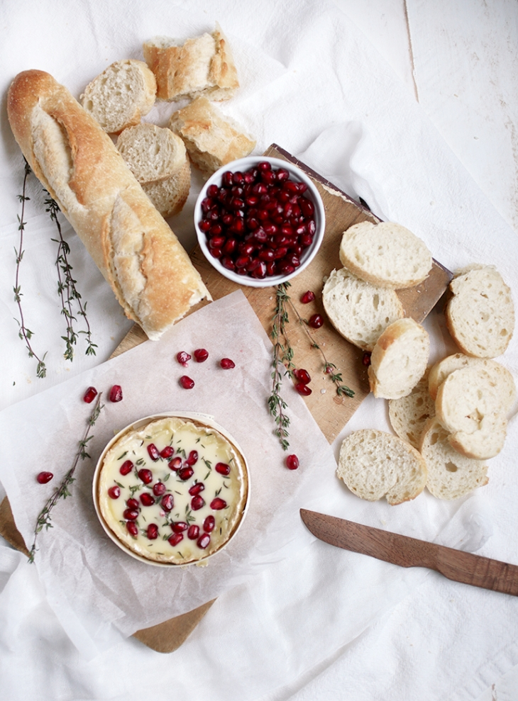 Pomegranate & Thyme Baked Camembert @themerrythought