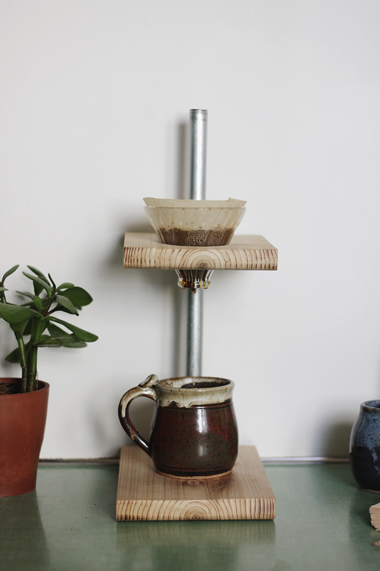 Diy Pour Over Coffee Stand The Merrythought