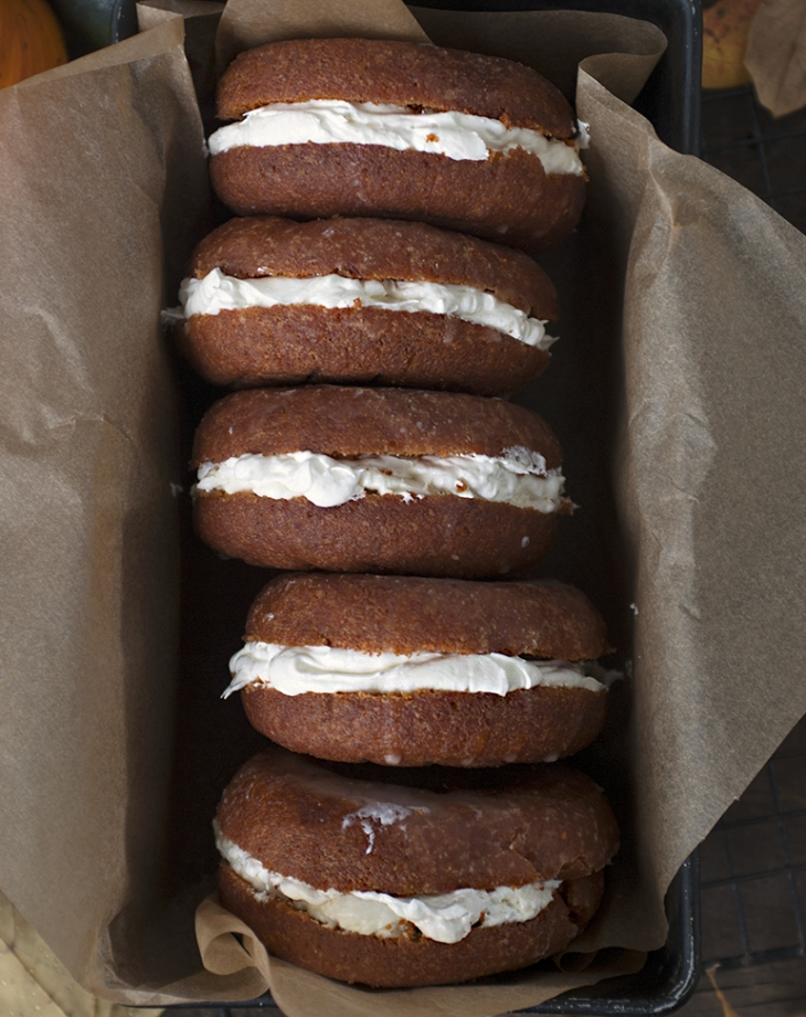 Pumpkin Cream Donut Sandwiches @themerrythought