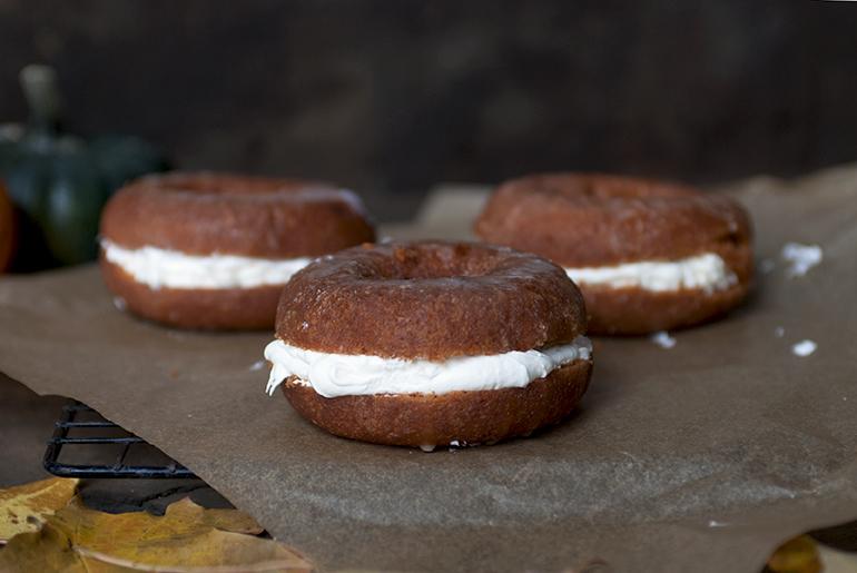 Pumpkin Cream Donut Sandwiches @themerrythought