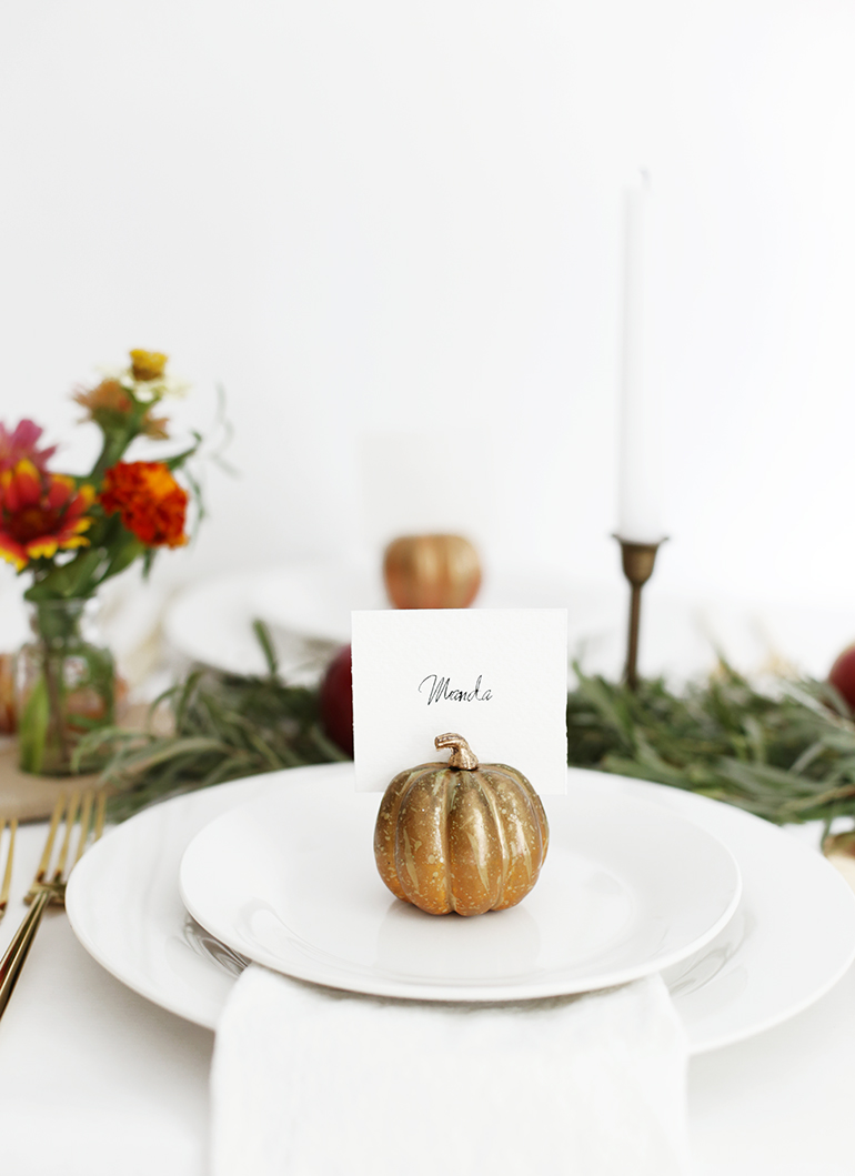DIY Pumpkin Place Card Holders » The Merrythought