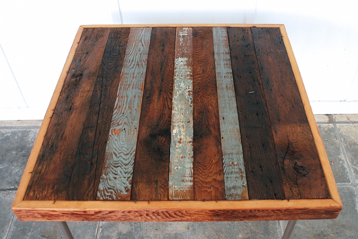 Reclaimed Wood Card Table  @themerrythought