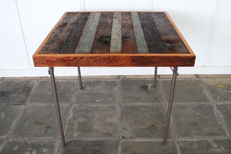 Merveilleux Reclaimed Wood Card Table Makeover @themerrythought