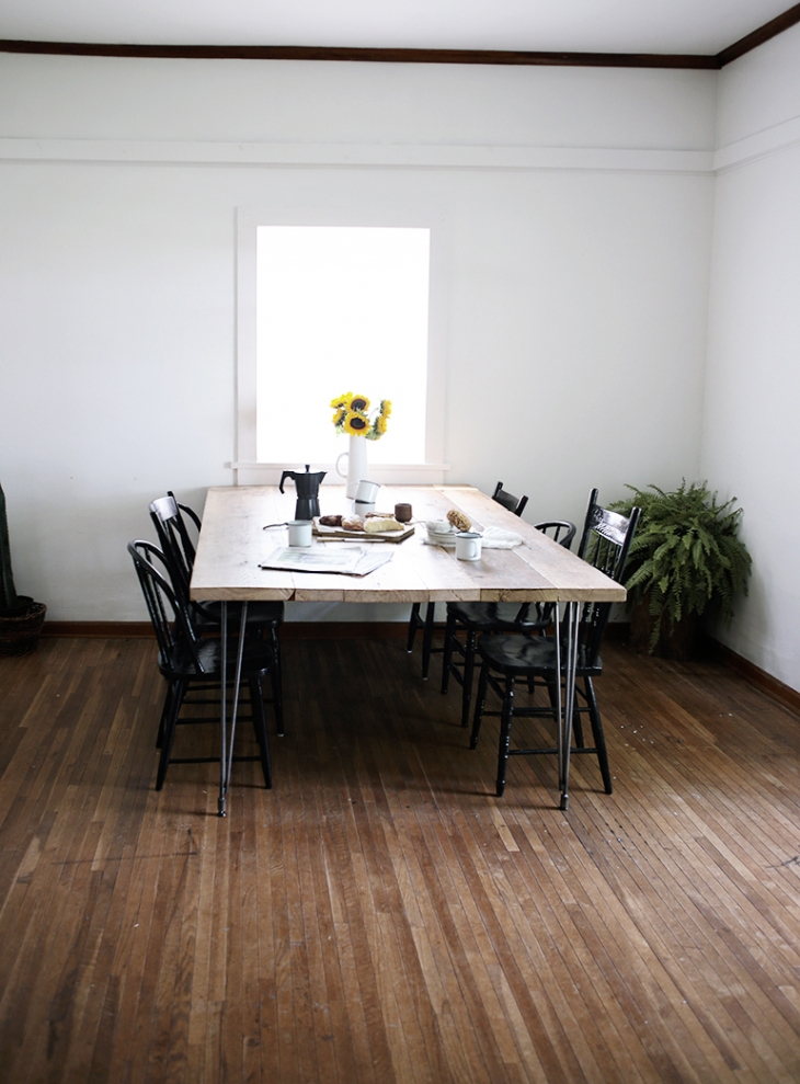 how to clean reclaimed wood table