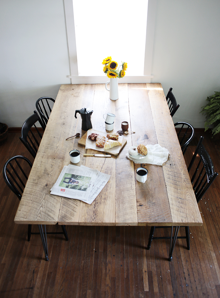 Diy Reclaimed Wood Table The Merrythought