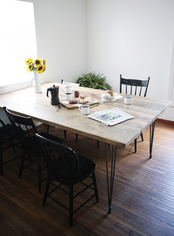 diy reclaimed wood table the merrythought. Black Bedroom Furniture Sets. Home Design Ideas