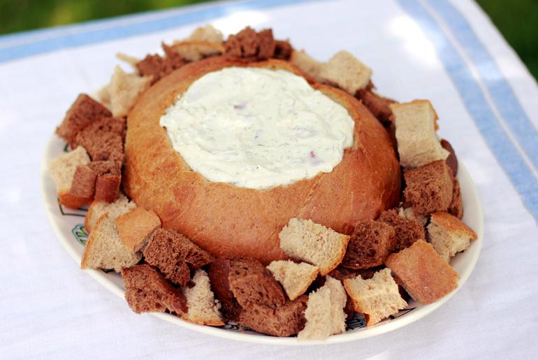 recipe: dried beef dip in bread bowl [25]