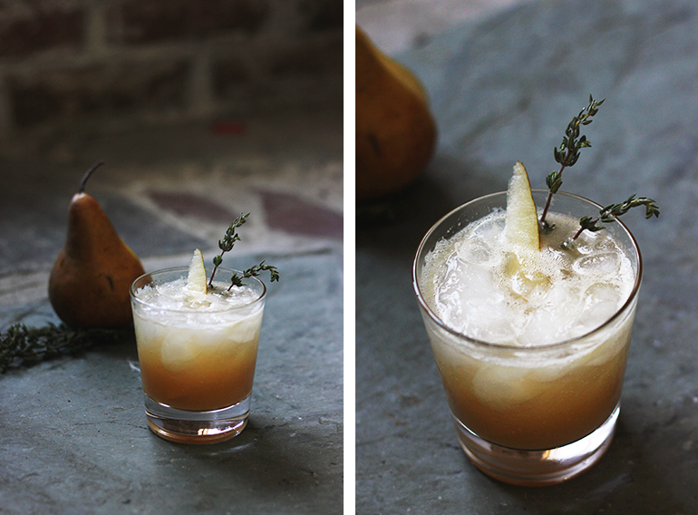 Pear & Thyme Spritzer @themerrythought