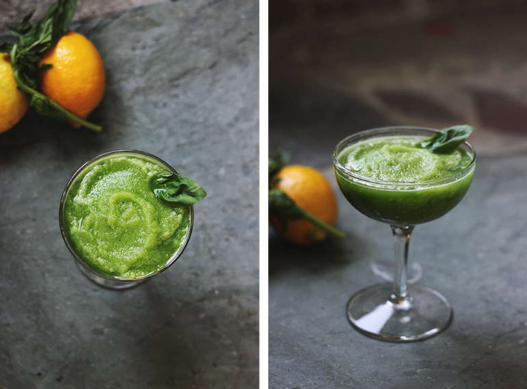 Non-Alcoholic Lemon Basil Daiquiri @themerrythought