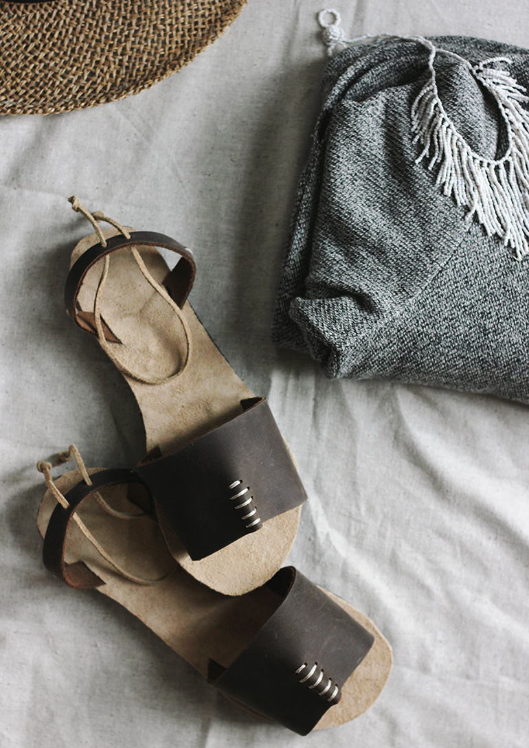 DIY Leather Sandals @themerrythought