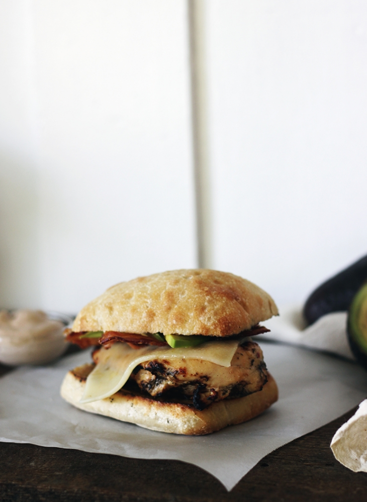 Chicken Bacon Avocado Sandwiches with Balsamic Mayo @themerrythought