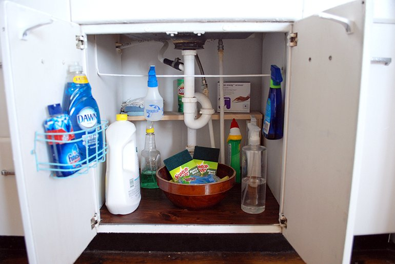 Sink Cabinet Organization | The Merrythought