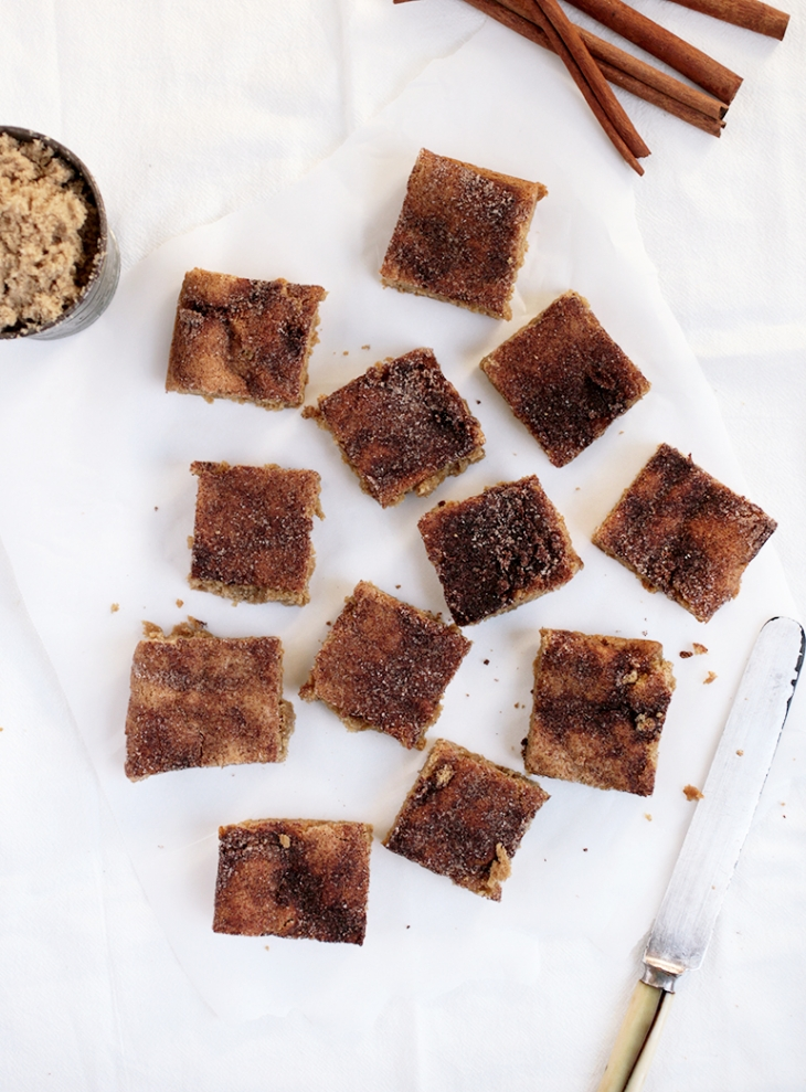 Brown Butter Snickerdoodle Blondies @themerrythought
