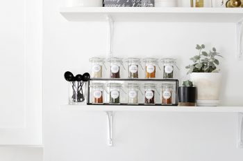 Spice Rack Organization with Printable @themerrythought