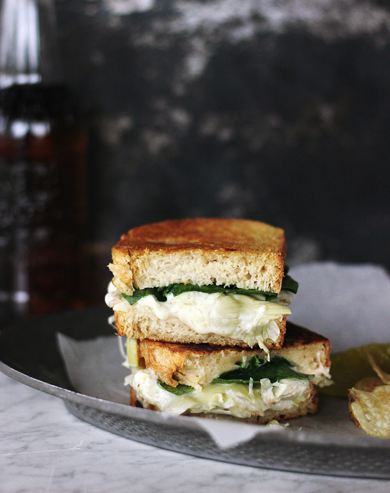 Spinach & Artichoke Grilled Cheese @themerrythought