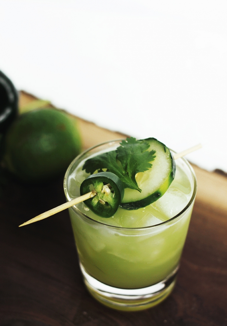 Spicy Cool Cucumber Cocktail @themerrythought