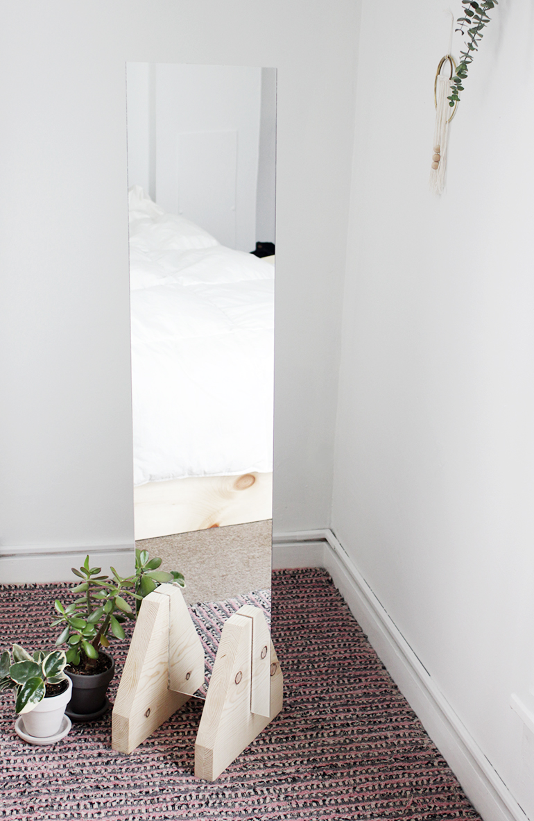 Diy Minimal Floor Mirror The Merrythought