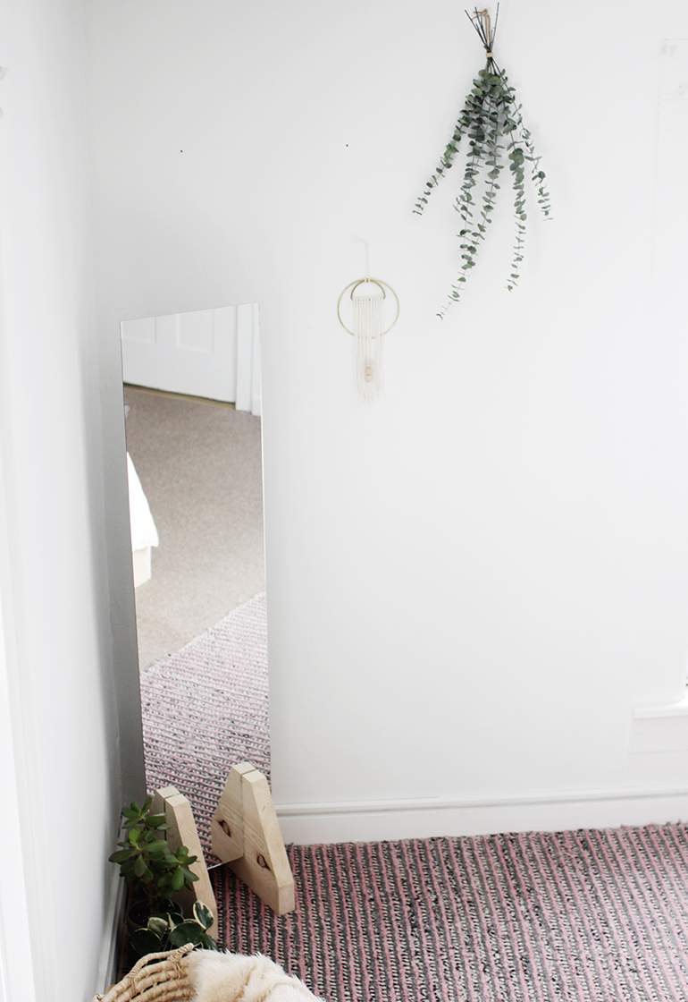DIY Minimal Floor Mirror » The Merrythought