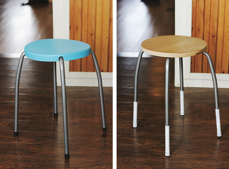 DIY Stool Makeover @themerrythought