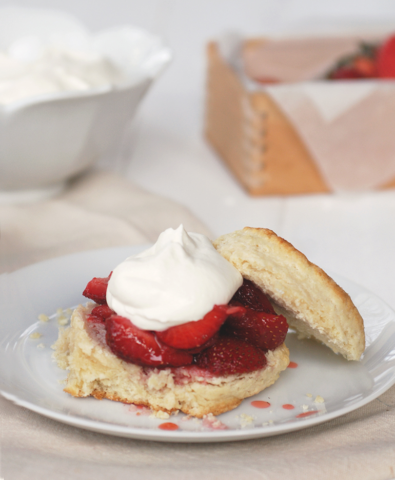 Strawberry Shortcake with Crème Fraîche Whipped Cream » The ...