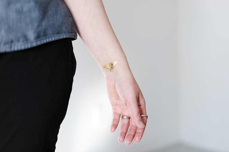 Diy Temporary Gold Tattoos The Merrythought