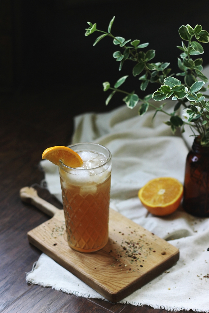 Orange Blossom Hibiscus Cold Brew Tea Mocktail @themerrythought
