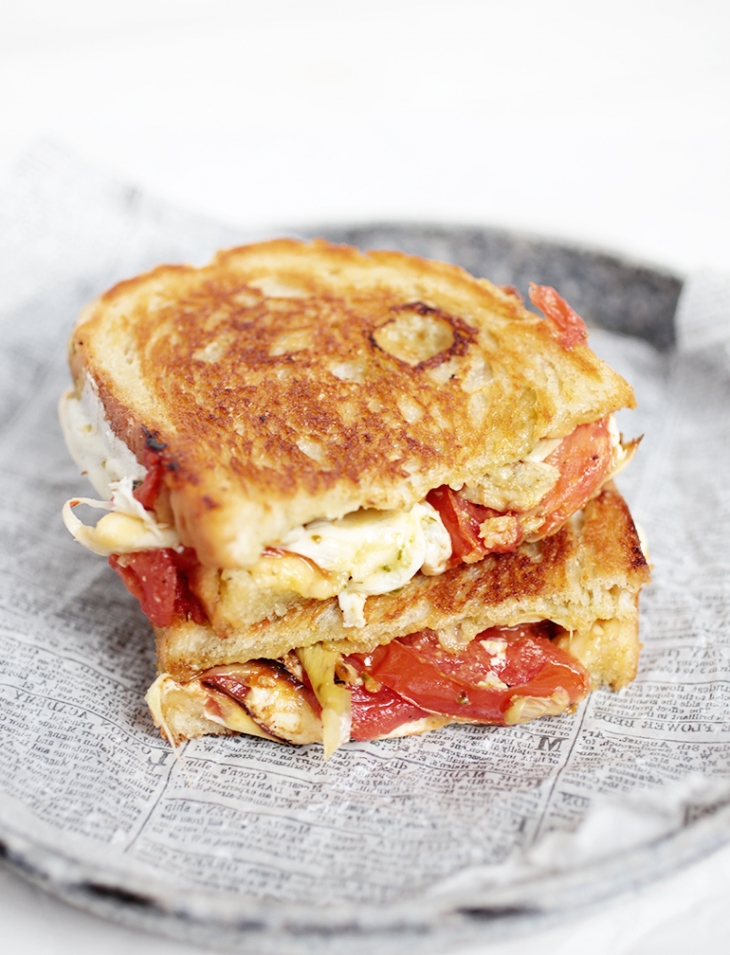 Roasted Tomato & Artichoke Grilled Cheese @themerrythought