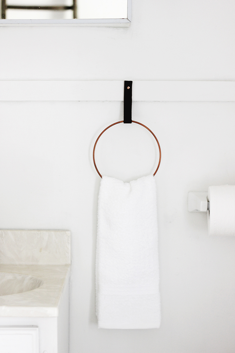 Modern Grey Towel Ring