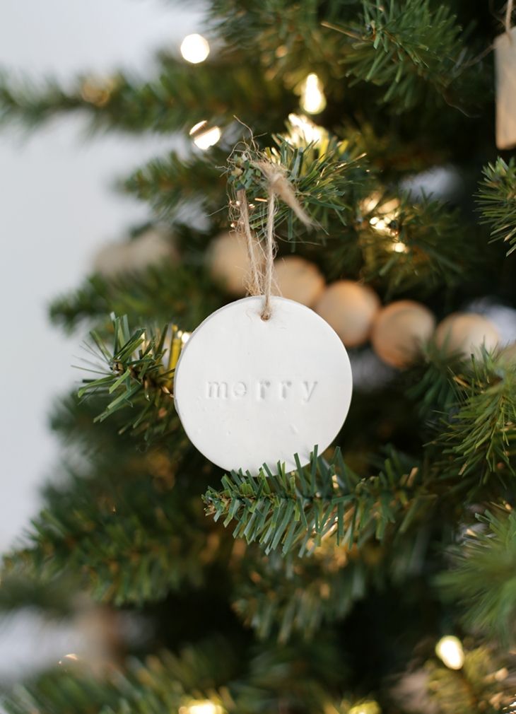 DIY Clay Ornaments @themerrythought