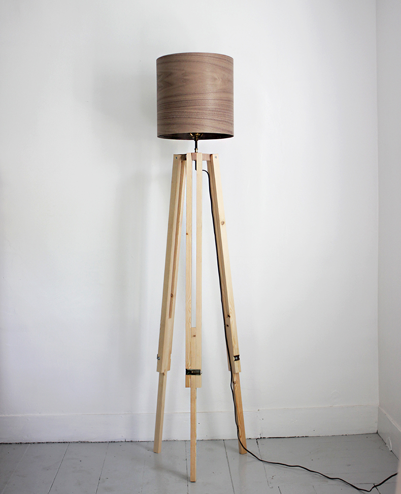 Diy tripod floor lamp the merrythought for Make wooden floor lamp