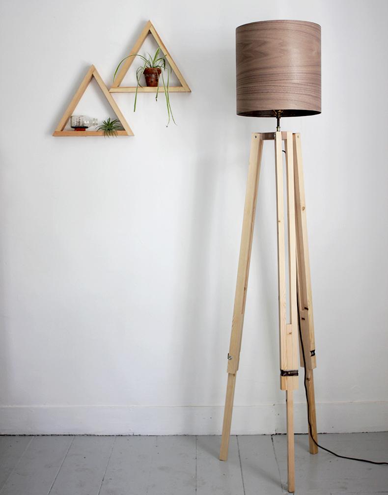 diy tripod floor lamp the merrythought. Black Bedroom Furniture Sets. Home Design Ideas
