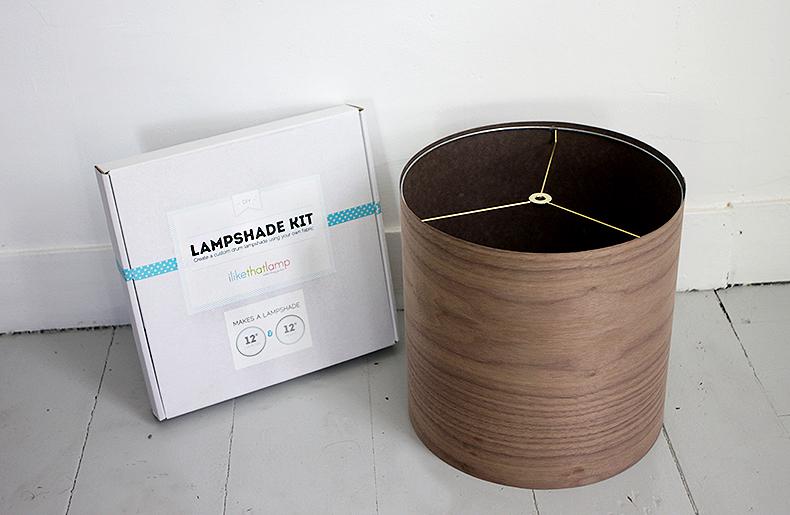 DIY Tripod Floor Lamp » The Merrythought:DIY Wood Veneer Lampshade @themerrythought,Lighting