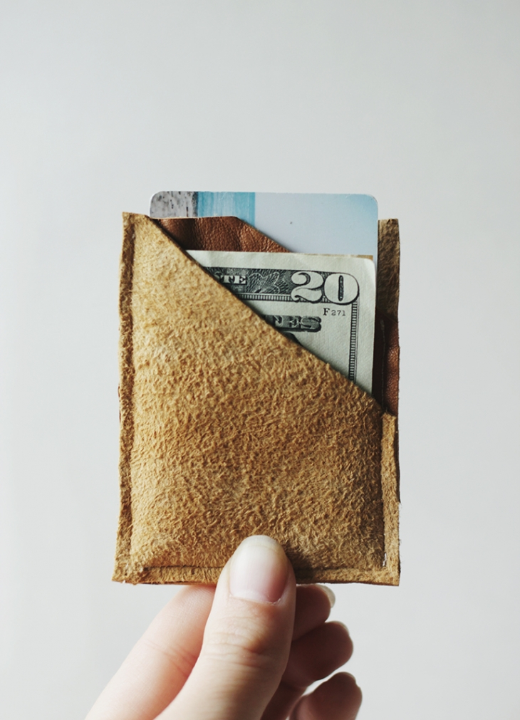 DIY Leather Wallet @themerrythought