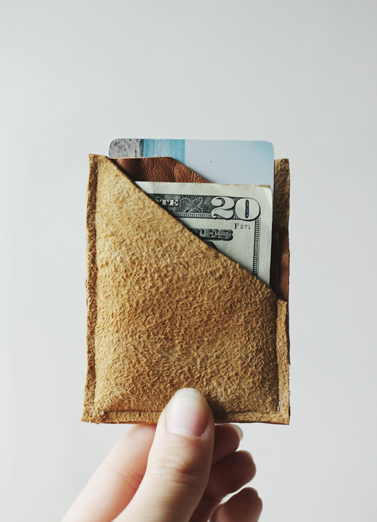 DIY Leather Wallet - The Merrythought