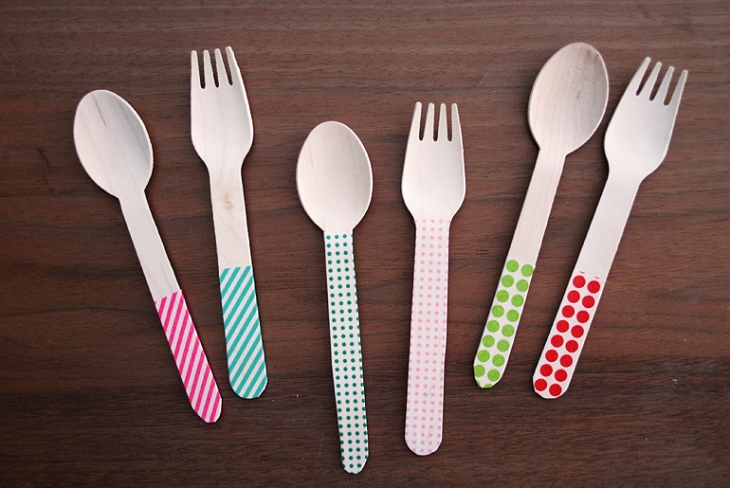 Washi Tape Forks & Spoons | The Merrythought