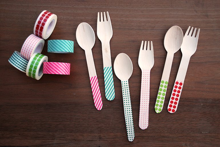 Washi Tape Silverware | The Merrythought